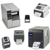 Desktop, Industrial and Portable Printers for pritning Barcode Labels, RFID Tags and receipts