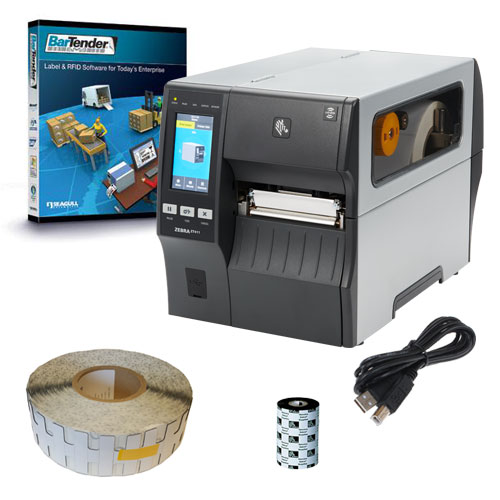 RFID Printer Kit for Metal Assets – Featuring ZT410R RFID Printer and On Metal Tags