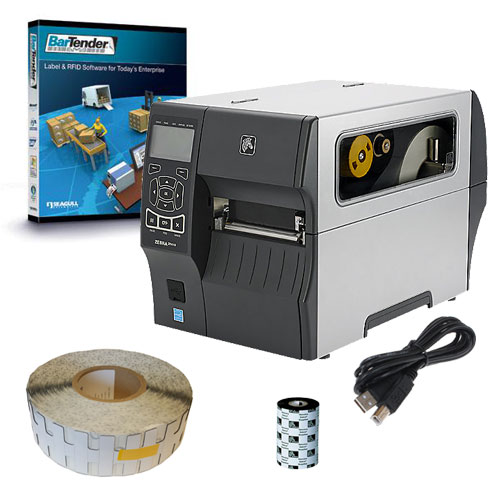 Zebra ZT410 Silverline RFID Tag Printer Starter Kit
