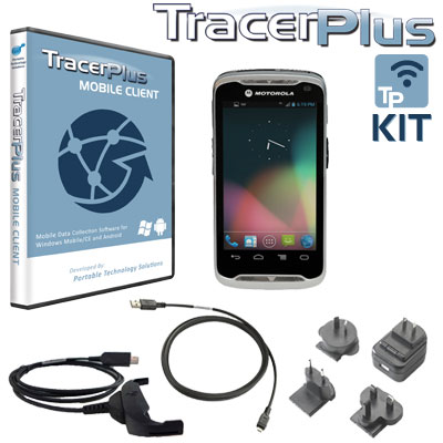 Motorola TC55 mobile barcode kit with TracerPlus software