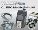 "PTS QL 220 Plus 2"" Mobile Label/Receipt Printing Kit - Palm OS"