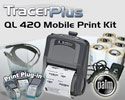"PTS QL 420 Plus 4"" Mobile Label/Receipt Printing Kit - Palm OS"