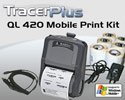 "PTS QL 420 Plus 4"" Mobile Label/Receipt Printing Kit - Windows Mobile"